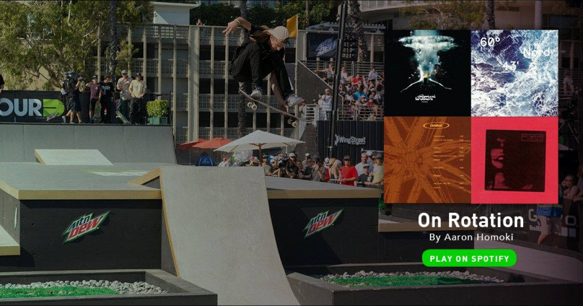 Skateboarder Aaron Jaws Homoki Techno Music Playlist Dew Tour