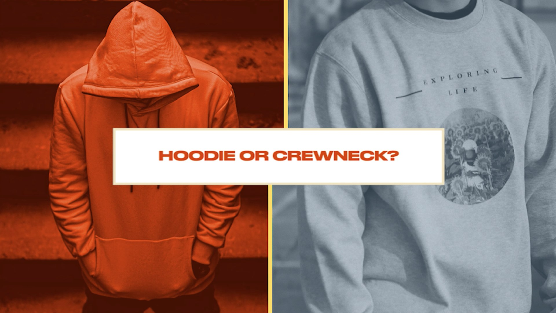 Either, Or: Skiers and Snowboarders Choose Between Hoodie or Crew Neck Sweatshirts
