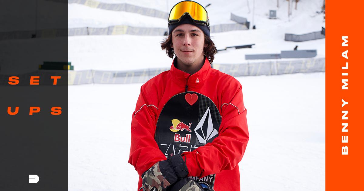 Setups: Benny Milam Street and Jib Riding Snowboard Gear