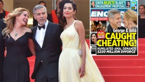 George clooney julia roberts cheating F