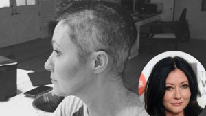 shannen doherty cancer shaved head photos