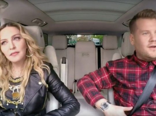 madonna james corben carpool karaoke feud