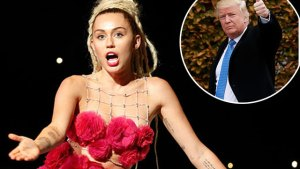 miley cyrus donald trump leaving america