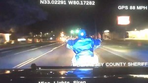 Cop motorcycle chase death F