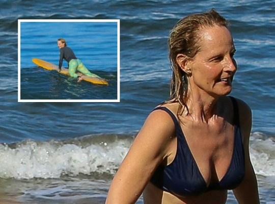 helen hunt bikini body surfing
