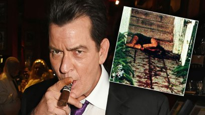 oj simpson crime scene photos charlie sheen
