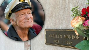 hugh hefner marilyn monroe death buried