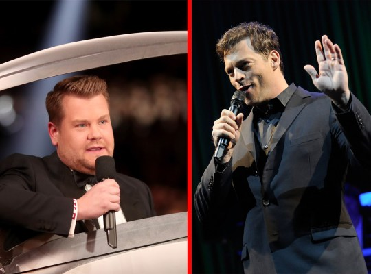 james corden harry connick karaoke feud