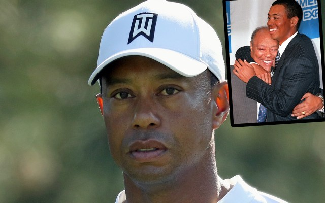 tiger woods dead father grave