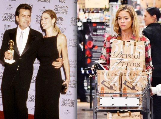 denise richards real housewives broke charlie sheen