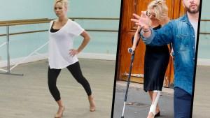 pamela anderson leg injury dancing dwts