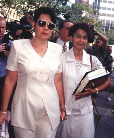Autumn Jackson, right, with her mother Shaun Thompson Both Wearing White