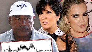 OJ Simpson Kris Jenner With Inset Of Khloe Karashian
