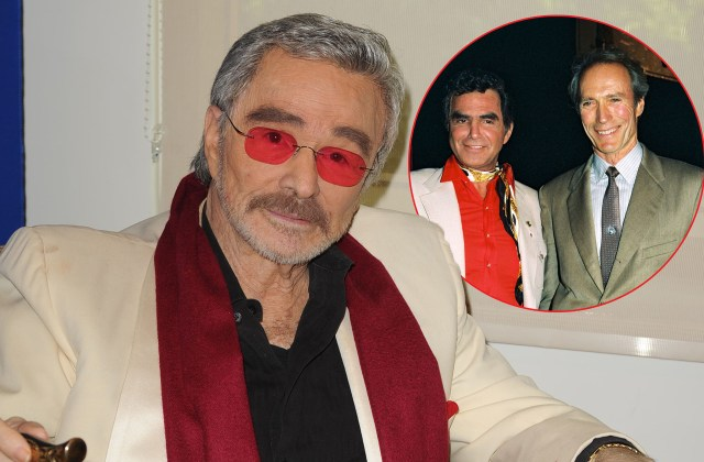 Burt Reynolds attends Student Showcase of Films at the Palm Beach International Film Festival. Inset, Burt Reynolds and Clint Eastwood.