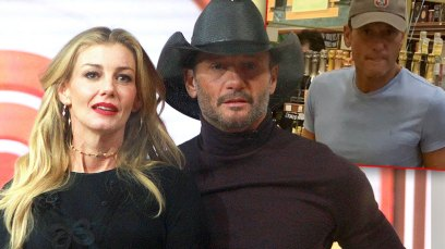 Tim McGraw and Faith Hill Inset Of Tim McGraw Shopping For Wine Wearing Light Blue T-Shirt And Light Brown Baseball Cap
