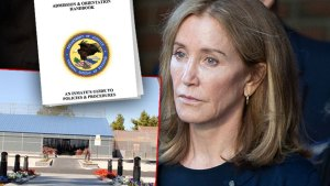 Felicity Huffman Inset of Federal Correcion Handbook and Inset Of FCI Dublin