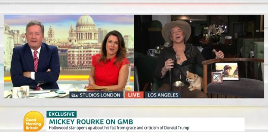 Picture of Piers Morgan ITV Interview With Mickey Rourke