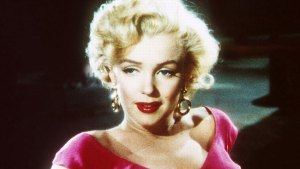 Marilyn Monroe In Pink V-Neck Sweater