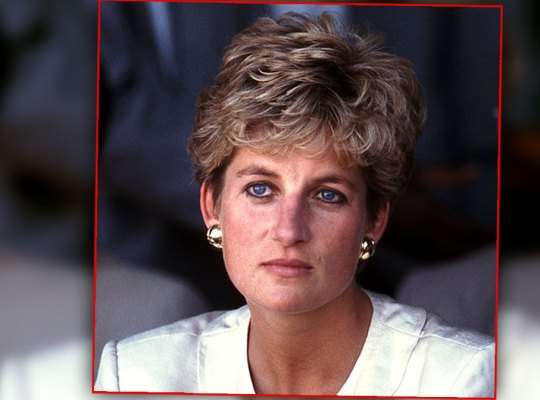 Princess Diana Wearing White Suit in Zimbawe 1993