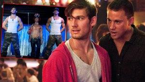 Movie Stills from MAGIC MIKE, Inset Alex Pettyfer, Matthew McConaughey, Channing Tatum Main Shot Alex Petyyfer and Channing Tatum in Magic Mike