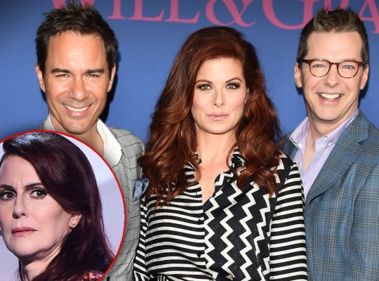 Eric McCormack, Debra Messing and Sean Hayes, INSET Megan Mullay
