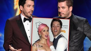 Drew and Jonathan Scott Onstage, Inset JD Scott and Annalee Belle