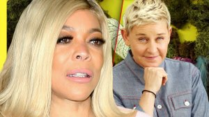 Photo Split Of Sad looking Wendy Williams, Happy Ellen DeGeneres