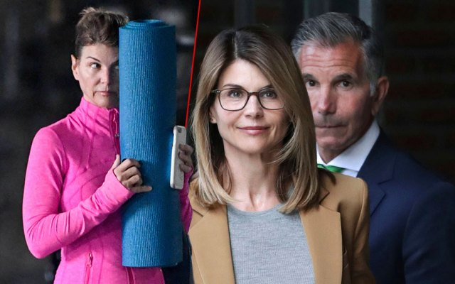 Lori Loughlin Hiding Behind Yoga Mat, Lori Loughlin and Husband Mossimo Giannulli