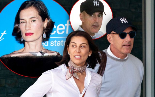 nset Annette Roque, Inset Matt Lauer,Matt Lauer Finds New Love With Ex-Wife's Lookalike Shamin Abas!