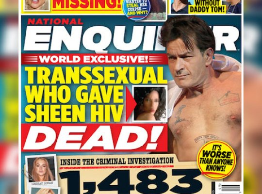 WORLD EXCLUSIVE: Charlie Sheen's HIV Transsexual Lover Dead thumbnail