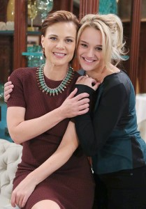 """Gina Tognoni. Hunter King """"The Young and the Restless"""" Set with Gina Tognoni CBS television City Los Angeles 07/18/14 © Howard Wise/jpistudios.com 310-657-9661"""