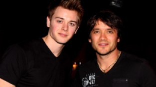 Dominic Zamprogna and Chad Duell at The Brokerage Comedy Club.February 18, 2012