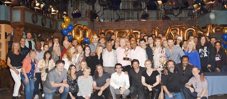 """Days of our Lives"" Set Celebrating Emmy Wins"