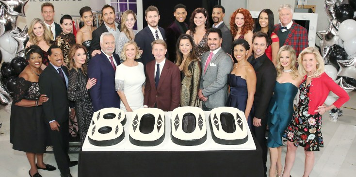 """""""The Bold and the Beautiful"""" Set Celebrating 8000 Episodes"""