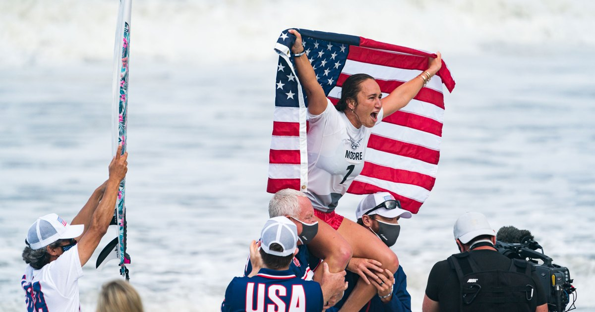 Carissa Moore and Italo Ferreira Become Surfing's First Olympic Gold Medalists - SURFER Magazine